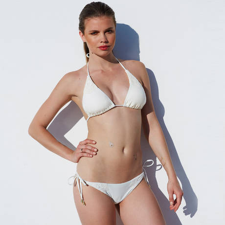 SORAYA Maillot de bain 2 pièces triangle Gigi Les Unis Crème
