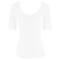 HANRO Top manches courtes Essentials Blanc