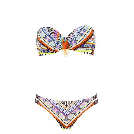 SORAYA Maillot de bain 2 pièces bandeau Suzy Paraguay Multicolore
