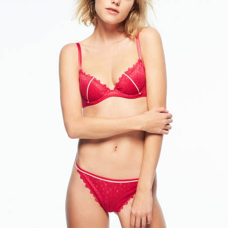 PASSIONATA Soutien-gorge push-up French Kiss Rouge