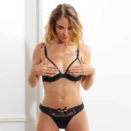 MILLESIA Soutien-gorge seins nus Coquine Noir
