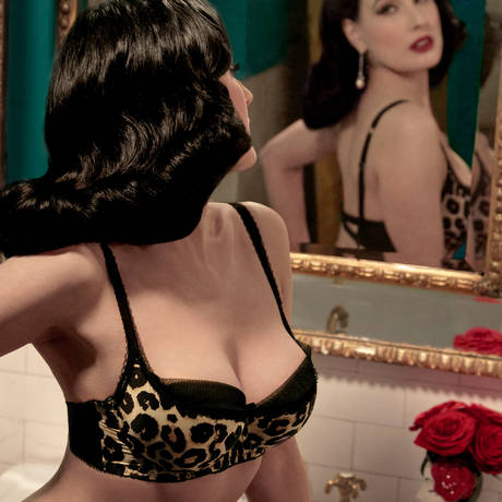 DITA VON TEESE Soutien-gorge balconnet Sheer Witchery Sophisticat Animal Satin
