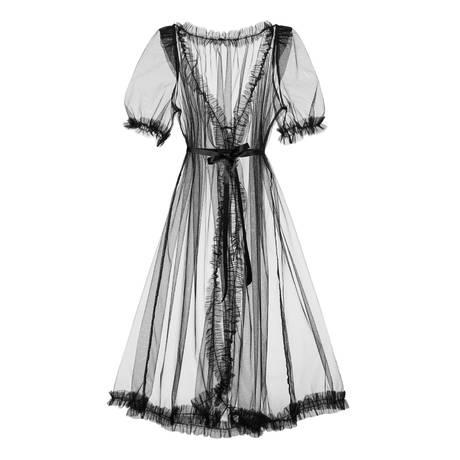 DITA VON TEESE Robe Vintage Sheer Robes Noir