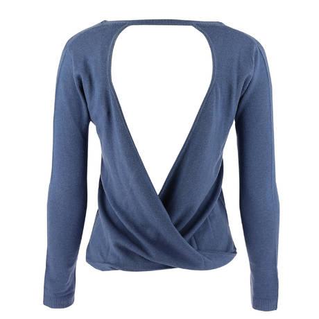 MARJOLAINE Pull en laine et soie Eros Bleu