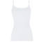OSCALITO Top fines bretelles coton fil d'écosse Blanc