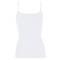 OSCALITO Top fines bretelles en coton fil d'écosse Blanc