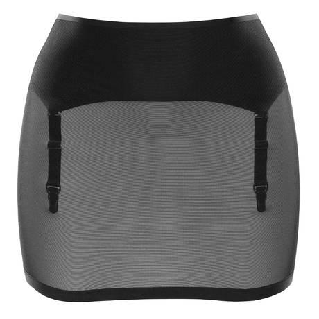 MAISON CLOSE Jupe gaine porte-jarretelles Belle de Jour Noir