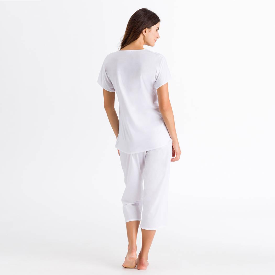 HANRO Pyjama Hazel Blanc