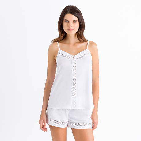HANRO Pyjama short Hazel Blanc