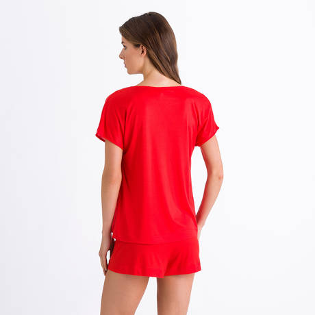 HANRO Pyjama Ayana Orange Red