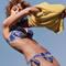 CHANTELLE Maillot de bain culotte haute Hippie Chic Vert tie & dye