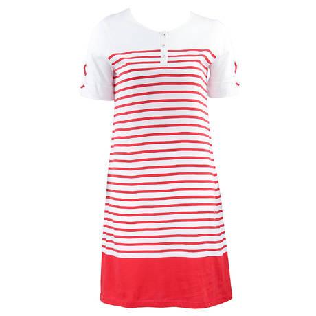 CANAT Chemise de nuit Rouge/Blanc