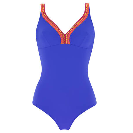 ANTIGEL Maillot de bain 1 pièce nageur sans armatures La Santa Antigel Santa Bleu