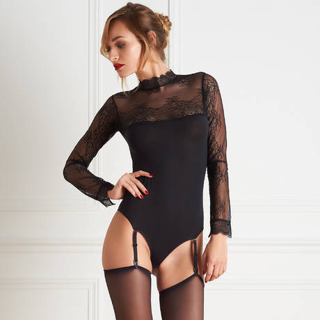 MAISON CLOSE Body string La Directrice Noir