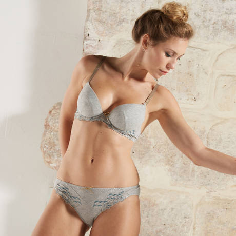 BARBARA Soutien-gorge push-up Mojito Gris Chiné