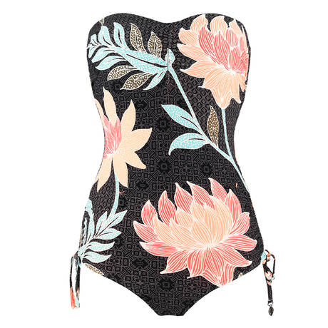 SEAFOLLY Maillot de bain 1 pièce bustier Bali Hai Black
