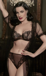 Dita Von Teese Savoir Faire Sheer Black/Copper