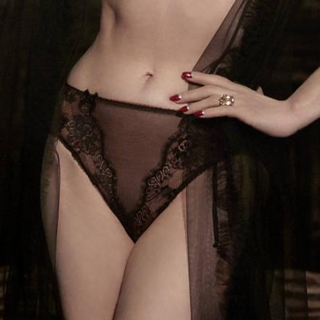 DITA VON TEESE Culotte haute Savoir Faire Sheer Black/Copper
