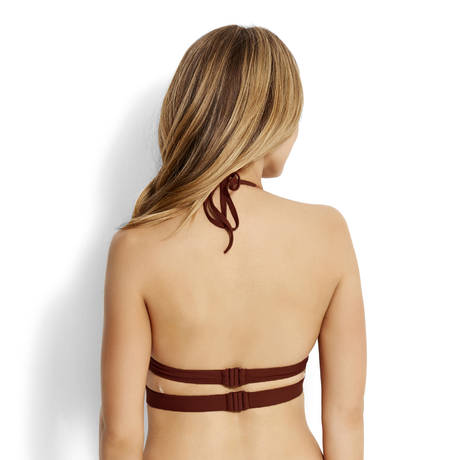 SEAFOLLY Maillot de bain triangle coques Active Burnt Amber
