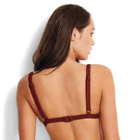 SEAFOLLY Maillot de bain triangle Active Burnt Amber