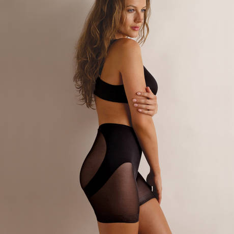 MIRACLESUIT Panty remonte fesses Sexy Sheer Shaping Noir