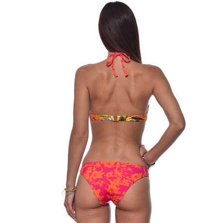 BANANA MOON Maillot de bain slip réversible Tropisun Orange