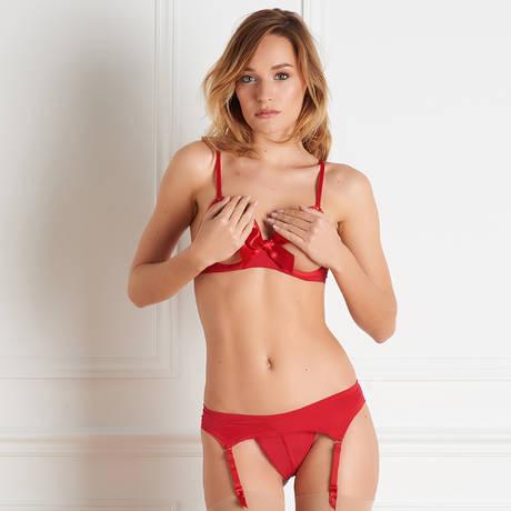 MAISON CLOSE Porte-jarretelles Le Petit Secret Rouge