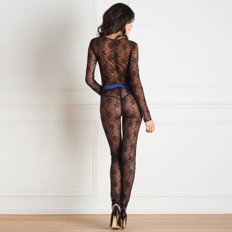 MAISON CLOSE Combinaison Vertige d'Amour Noir/Bleu Nuit