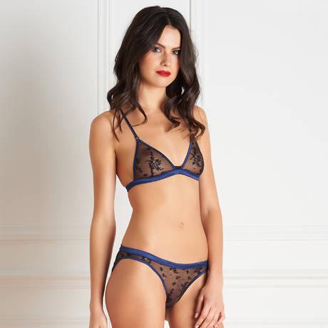 MAISON CLOSE Culotte sexy Vertige d'Amour Noir/Bleu Nuit