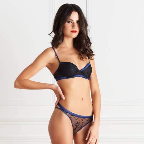 MAISON CLOSE String Vertige d'Amour Noir/Bleu Nuit