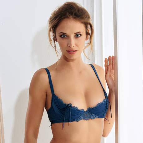 MILLESIA Soutien-gorge sexy Charme Bleu Nuit