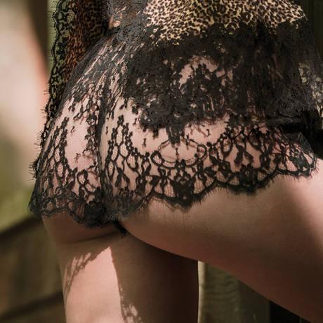 MARJOLAINE Short en dentelle Eris Noir