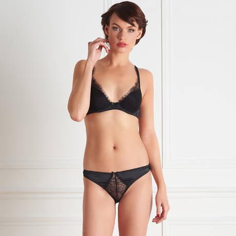 MAISON CLOSE Culotte Villa Satine Noir