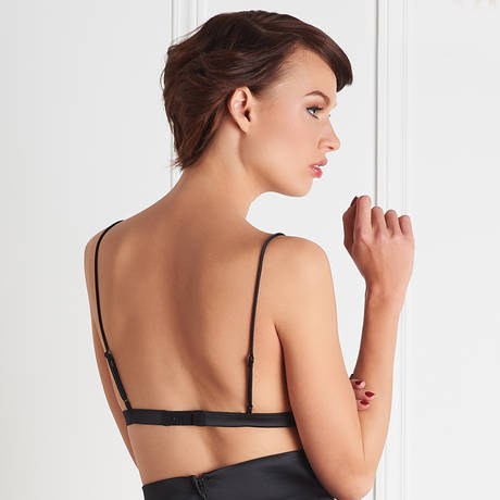 MAISON CLOSE Soutien-gorge triangle Villa Satine Noir