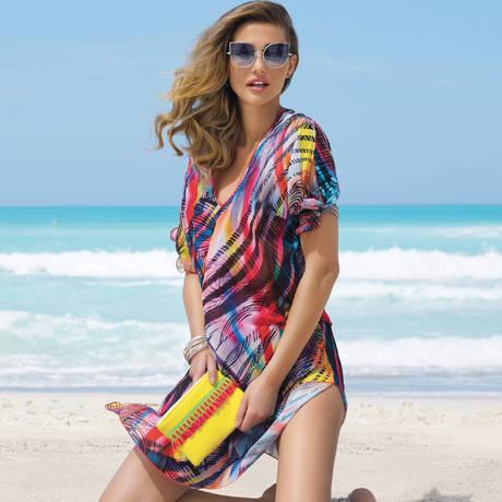 ANTIGEL Tunique de plage col V La Surf Mania Surf Solaire