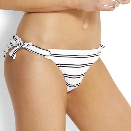 SEAFOLLY Maillot de bain slip lacets Inka Stripe Blanc