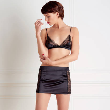 MAISON CLOSE Mini jupe Villa Satine Noir