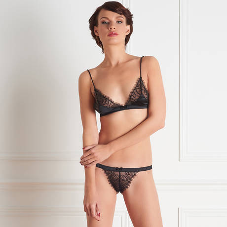 MAISON CLOSE Mini string Villa Satine Noir