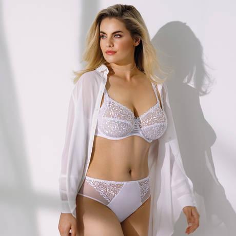 ANTINÉA Culotte haute Fashion Guipure Blanc