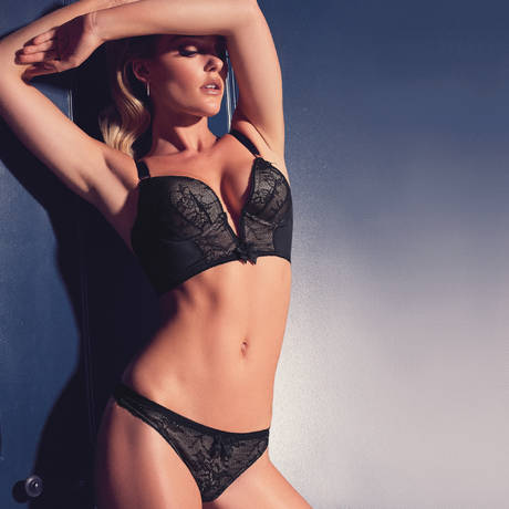 GOSSARD Soutien-gorge bustier Retrolution VIP Noir/Nude