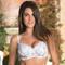 EPRISE DE LISE CHARMEL Soutien-gorge corbeille coques Aura India Blanc Exotique