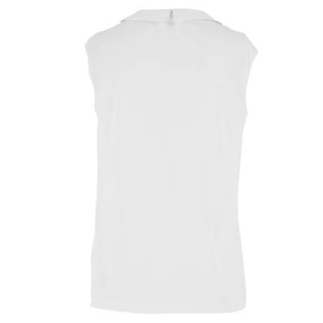OSCALITO Top sans manches en coton fil d'écosse Blanc
