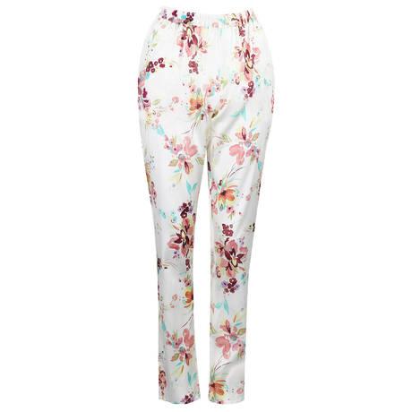 MARJOLAINE Pantalon en soie Elfique Imprimé Fleurs