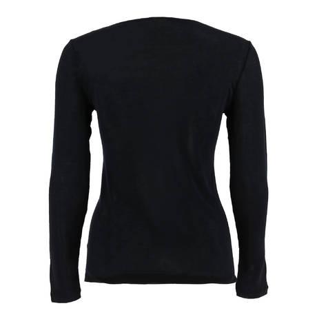 HANRO Top manches longues en soie Pure silk Noir