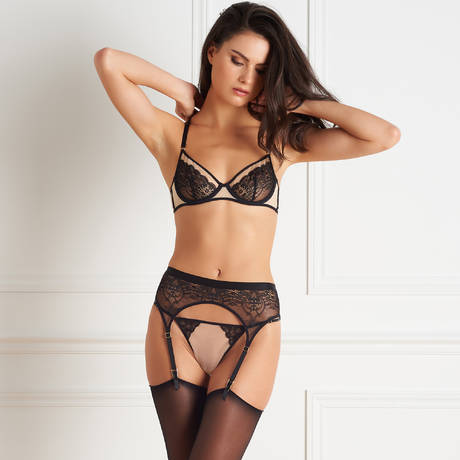 MAISON CLOSE Soutien-gorge balconnet L'Antichambre Chair/Noir