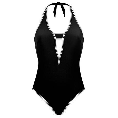 MARYAN MEHLHORN Maillot de bain 1 pièce Futurist Noir/Blanc