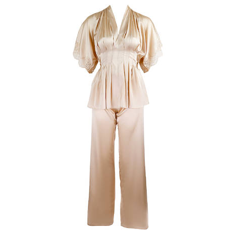 MARJOLAINE Pyjama en soie Etincelle Sable