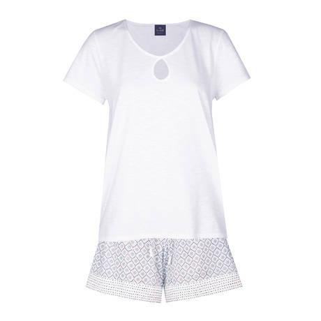 LE CHAT Pyjama Sari Blanc/Céladon