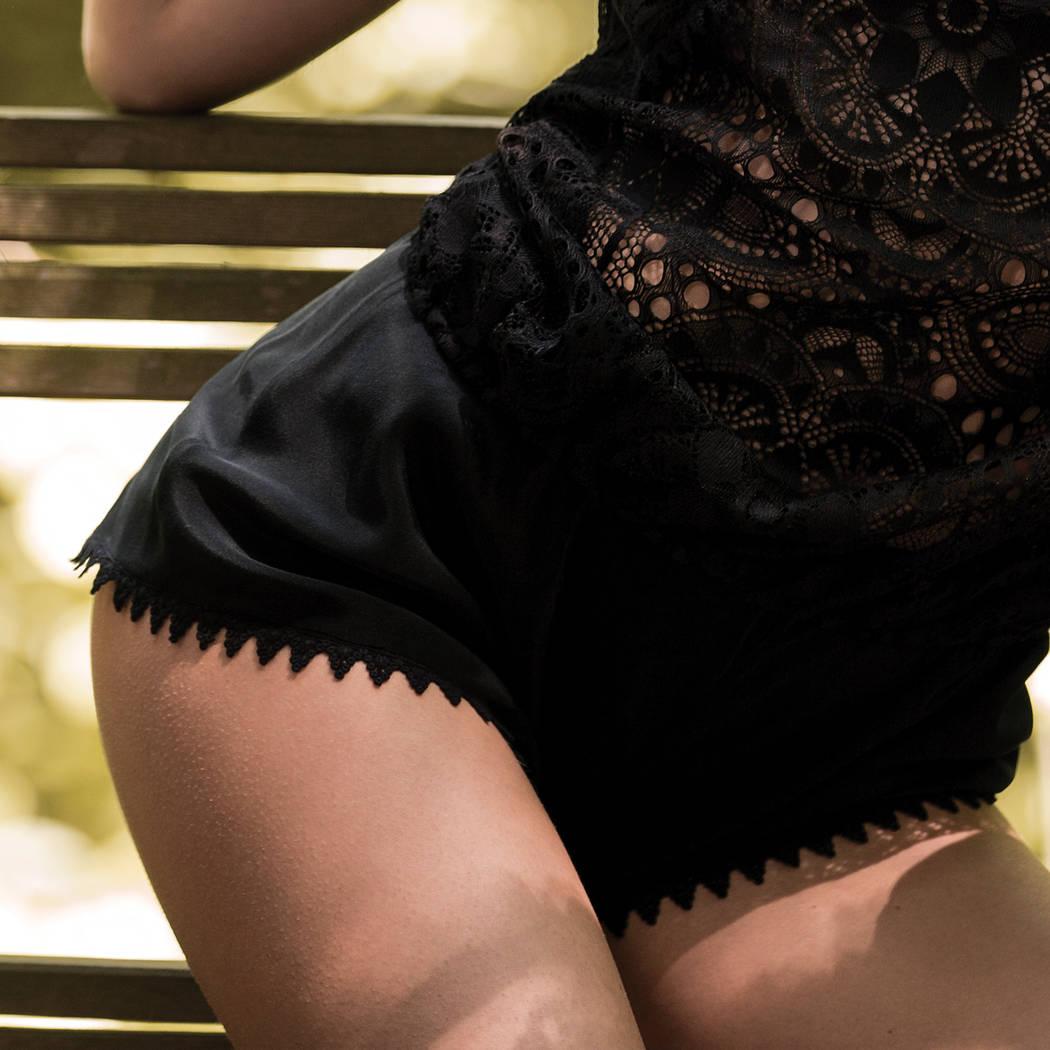MARJOLAINE Short en soie Eve Noir