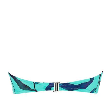 ANTIGEL Maillot de bain bandeau souple L'Antigelwood Feuille Bleu
